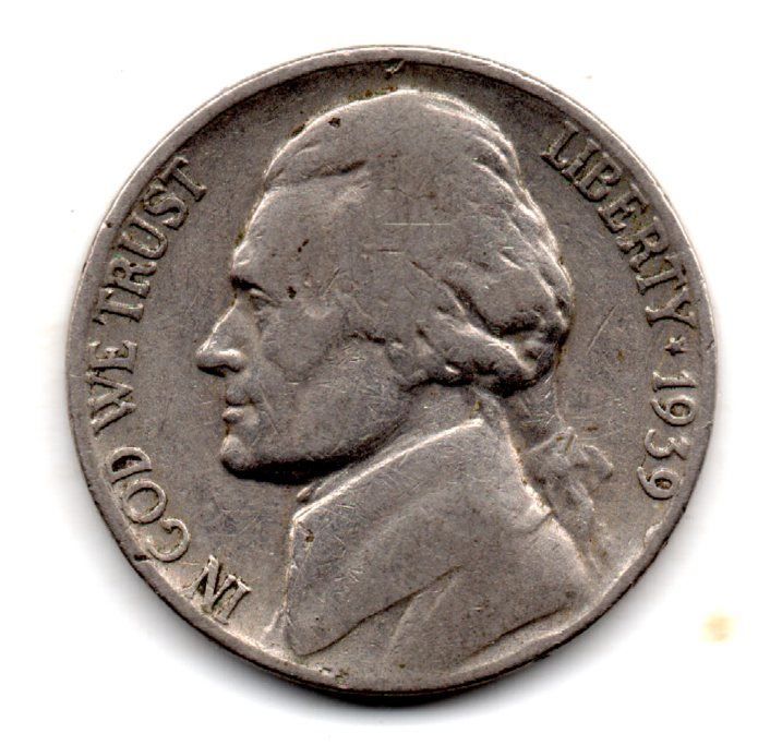 Image for 1939 Jefferson Nickel