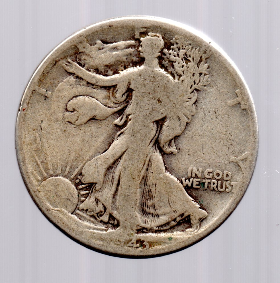 Image for 1943 Walking Liberty Half Dollar