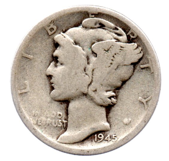 Image for 1945 S Mercury Silver Dime