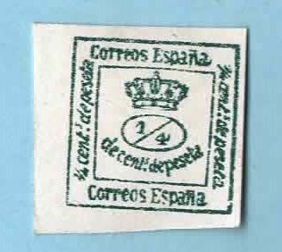 Image for Used Spain Postage Stamp (1872) 1/4 Murial Crown-impref   …