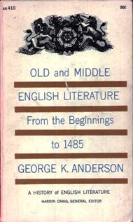 Image for Old And Middle English Literature From The Beginnings to 1485: Volume One of A History of English Literature