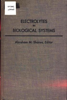 Image for Electrolytes in Biological Systems