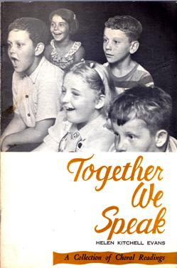 Image for Together We Speak: A Collection of Choral Readings
