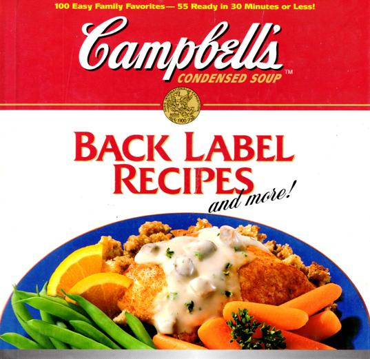 Image for Campbell's Back Label Recipes: And More!