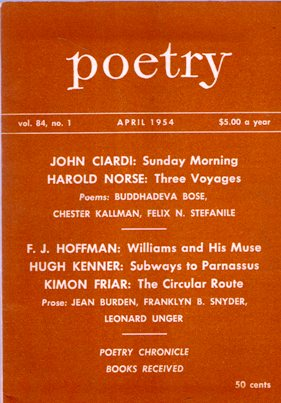 Image for POETRY MAGAZINE: April 1954