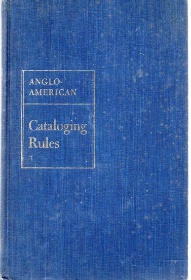 Image for Anglo-American Cataloguing Rules