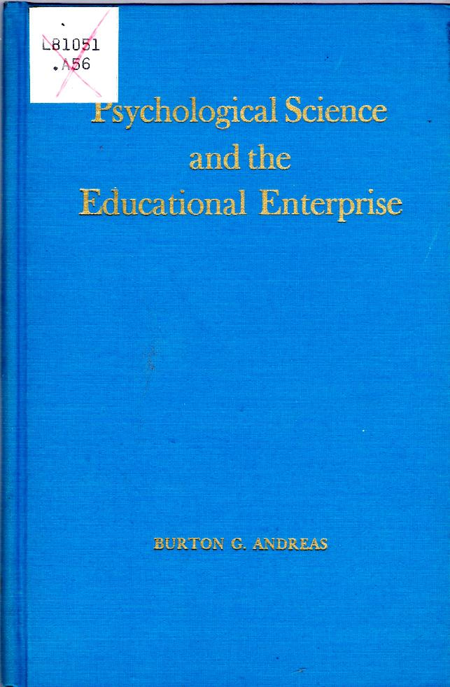 Image for Psychological Science and the Educational Enterprise