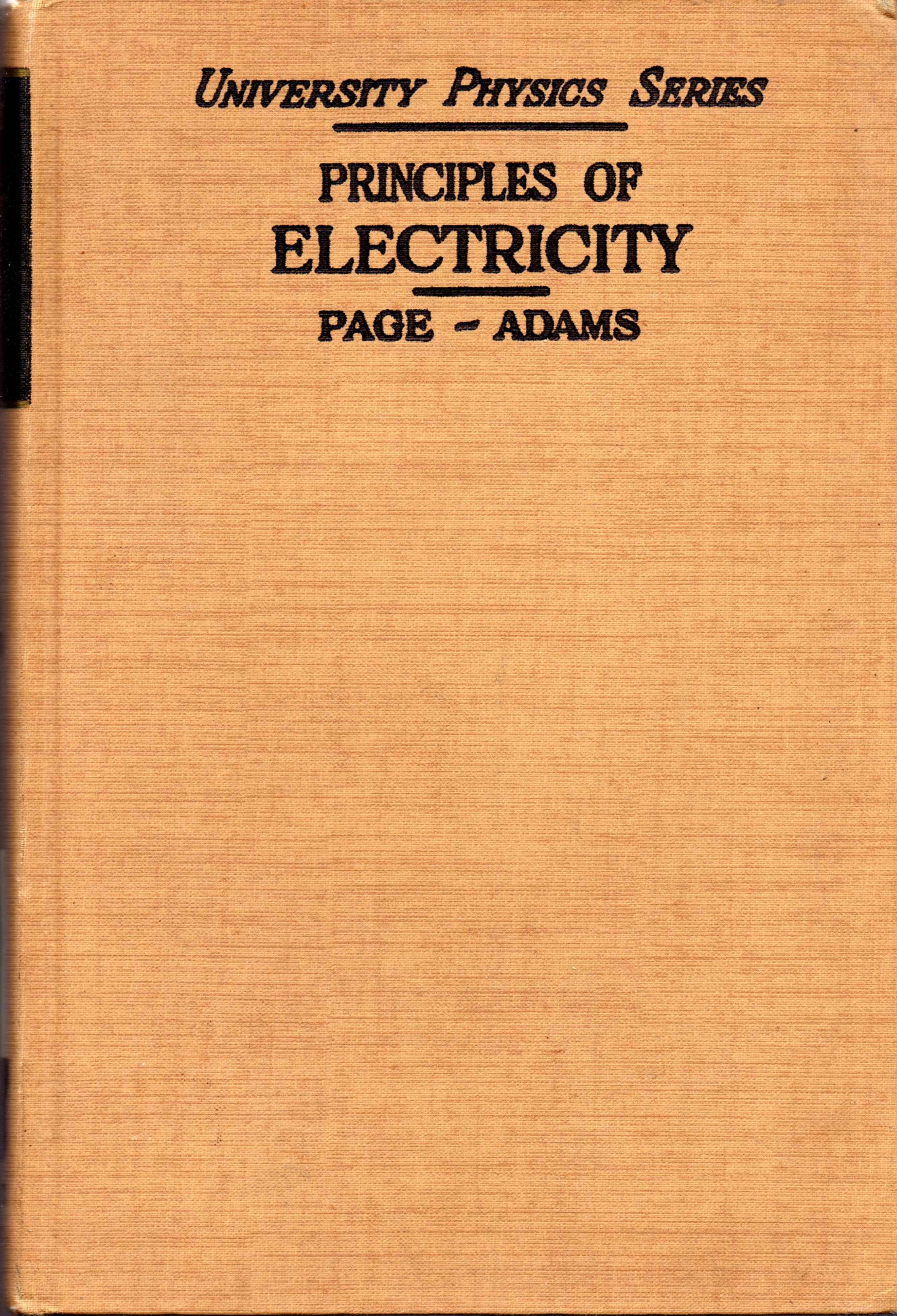 Image for Principles of Electricity: An Intermediate Text in Electricity and Magnetism - Third Edition
