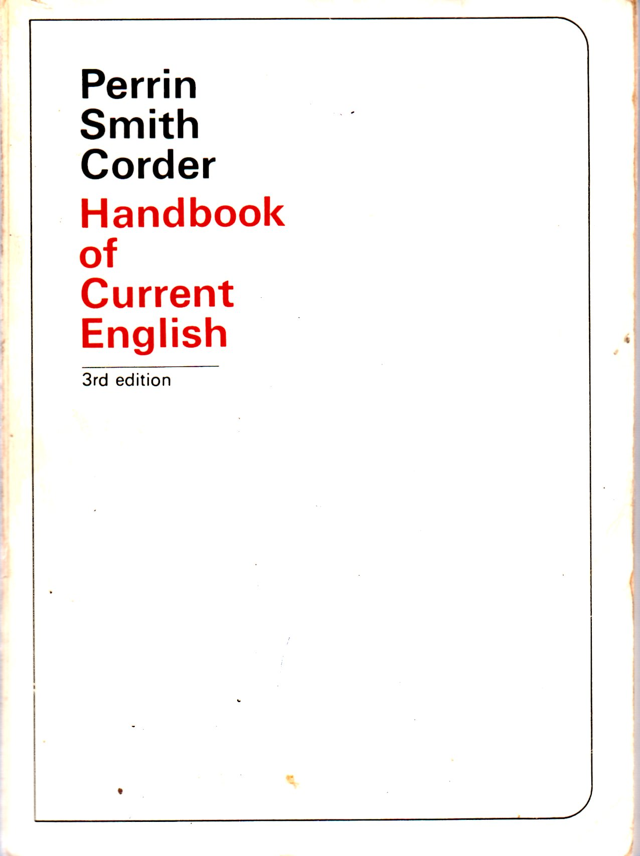 Image for Handbook of Current English: 3rd Edition
