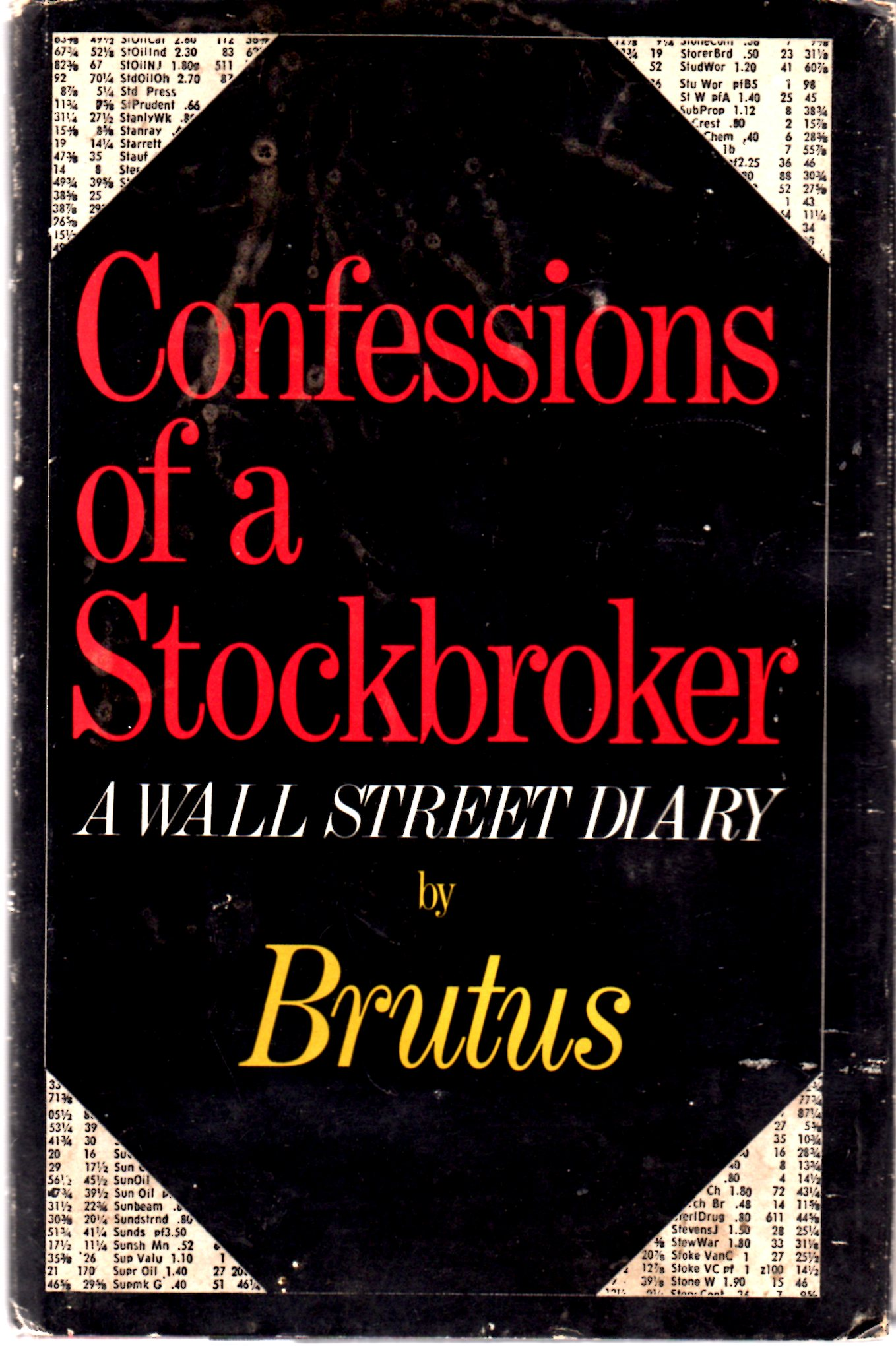 Image for Confessions of a Stockbroker--A Wall Street Diary