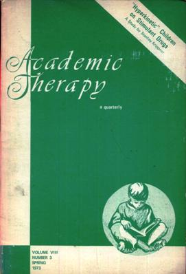Image for Academic Therapy magazine Spring 1973 Volume VIII Number 3