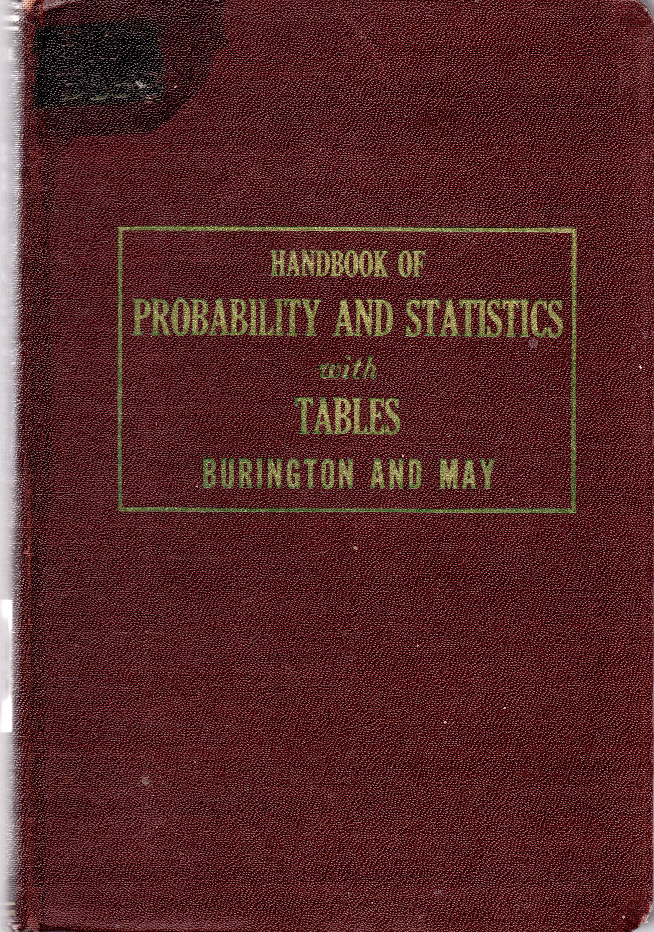 Image for Handbook of Probability and Statistics With Tables
