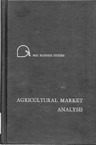 Image for Agricultural Market Analysis: Development, Performance, Process