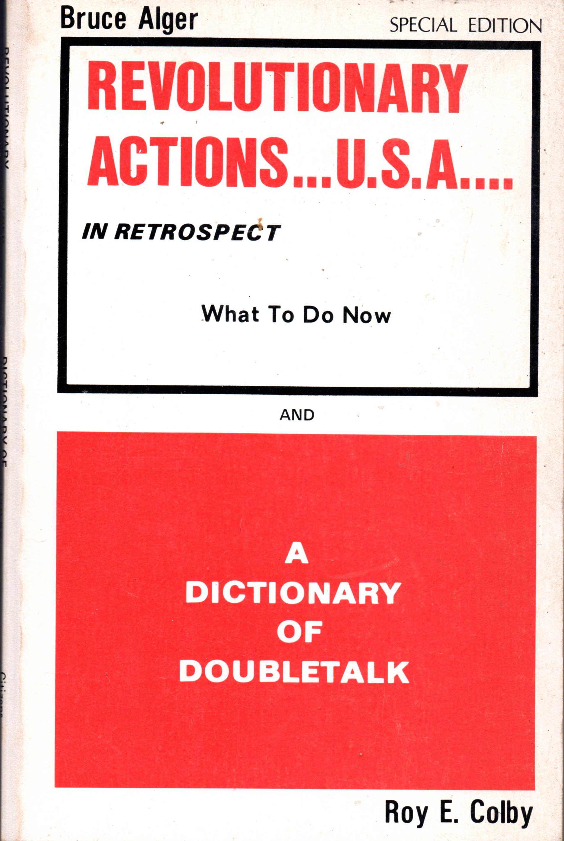 Image for Revolutionary Actions..USA...In Retrospect / A Dictionary of Doubletalk