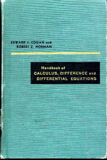 Image for Handbook of Calculus, Difference and Differential Equations