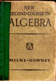 Image for Milne-Downey New Second Course In Algebra