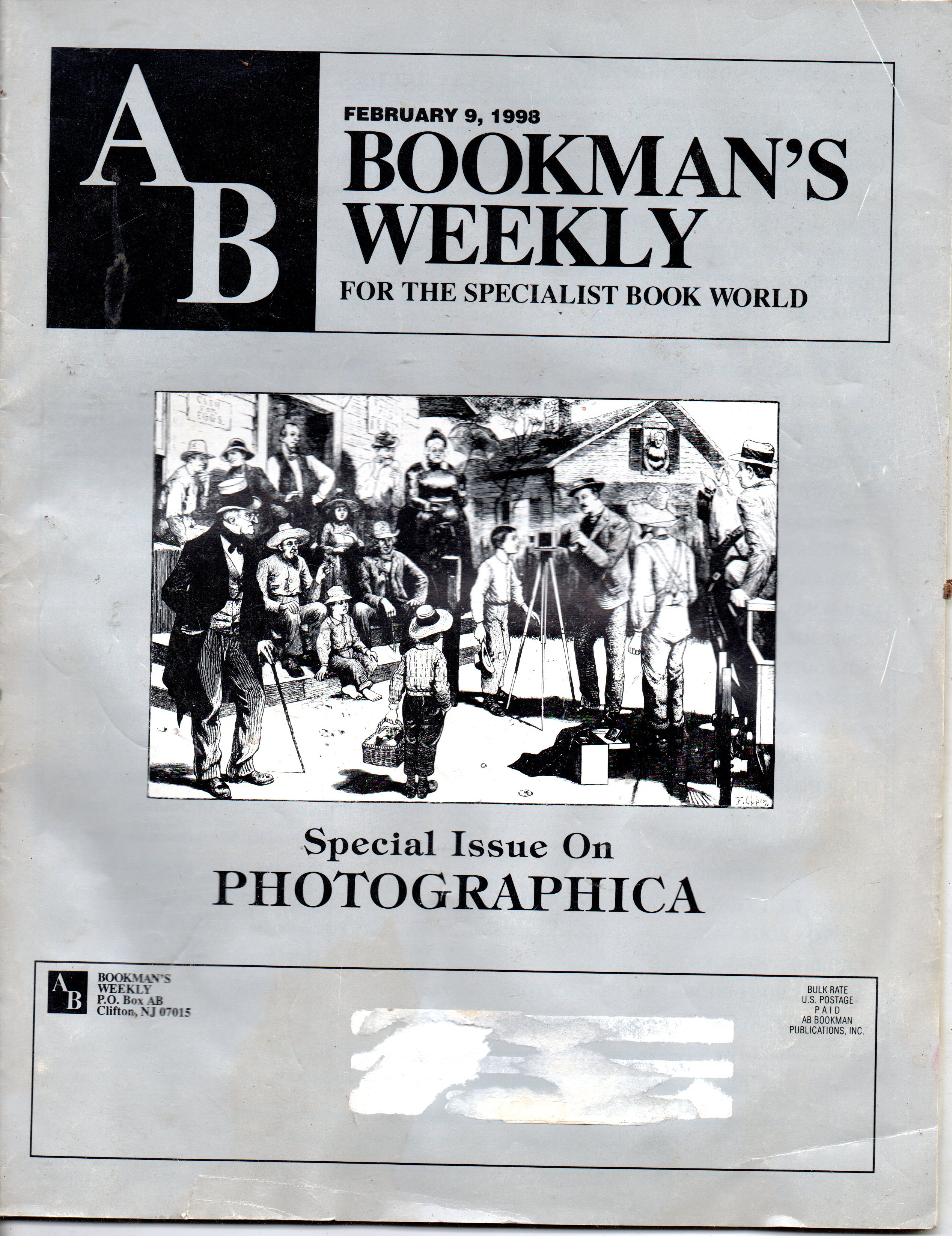 Image for AB Bookman's Weekly February 9, 1998
