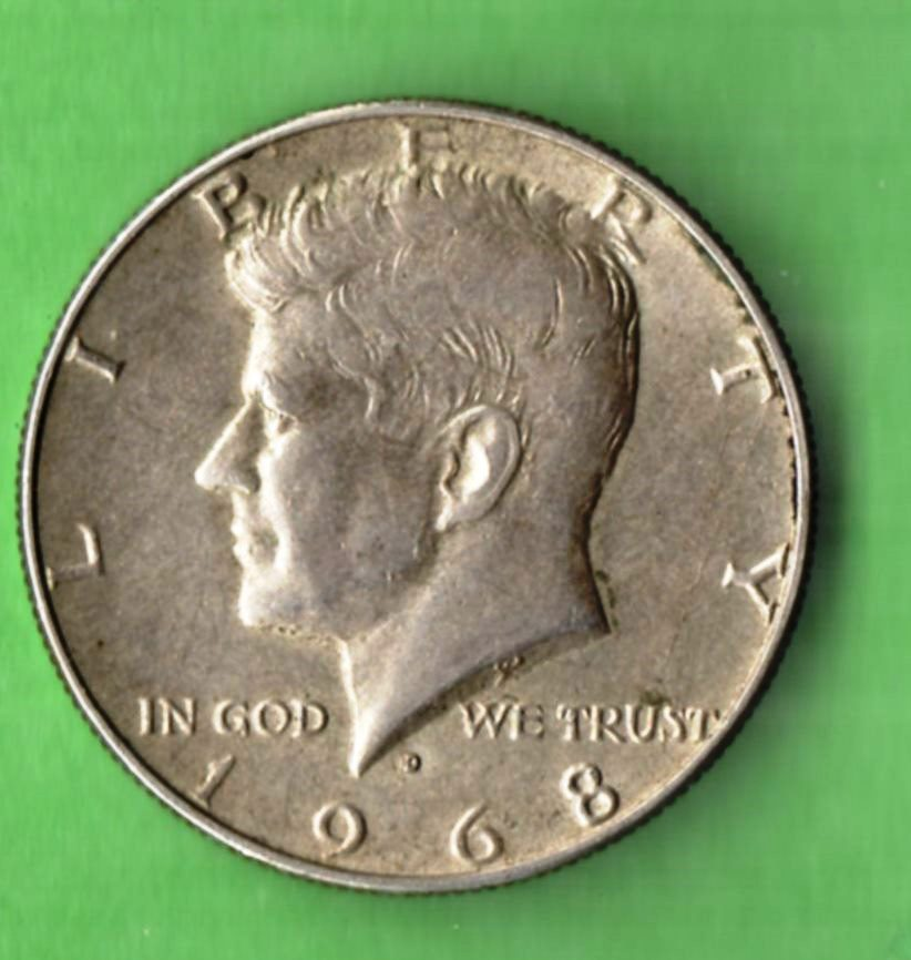 Image for 1968 D Kennedy Half Dollar